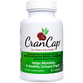 CranCap Cranberry Supplement for Urinary Tract Health   36mg PAC   Powerful Urinary Tract Infection Prevention   30 Count
