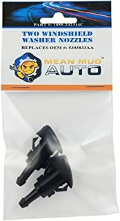 Mean Mug Auto 1055-232314C (Two) Front Windshield Washer Nozzles - For: Chrysler, Dodge, Jeep, Ram - Replaces OEM #: 5303833AA