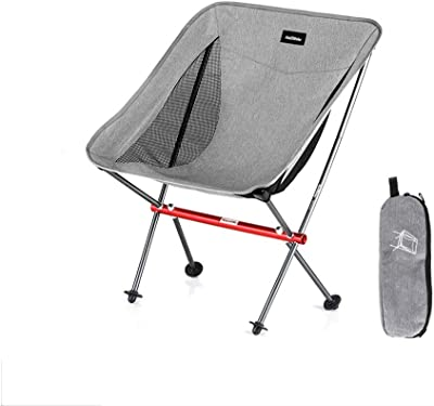 Ultra Light Camping Beach Chair Collapsible Backrest Outdoor Portable Folding Chair Backpack Chair Lodge Chair Fishing Chair Stool Painting Stool Back (Color : Gray)