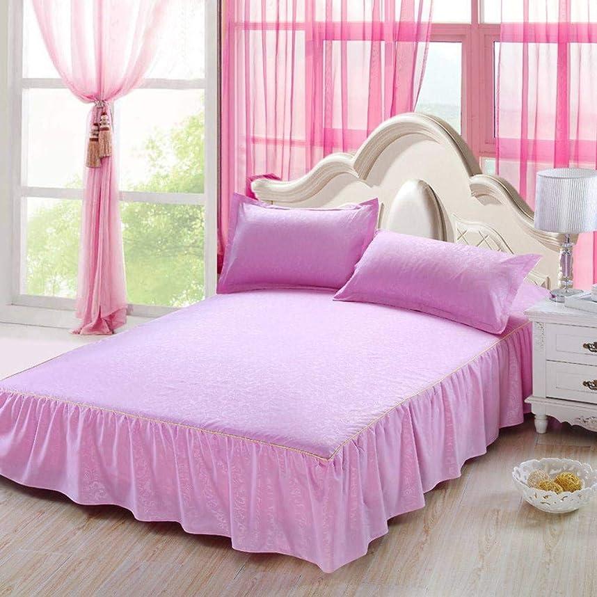 びん瀬戸際無謀QXJR 単色 ベッドスカート,ベッドカバー,植物カシミヤ いベッドスカート シングル ベッドスプレッド 寝具 いベッドマットレ ベッド用品-AT-200-220センチメートル