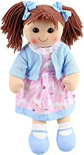 Hopscotch Collectables Rag Doll Isla Soft Toy Doll Pink/Blue
