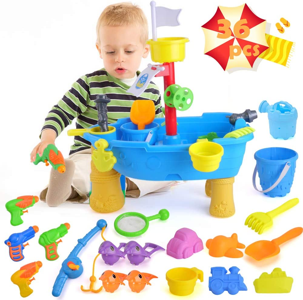 unanscre 36Pcs Finally resale start Sand Water Table Toddlers Beach Toy with for Our shop most popular