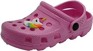 Toddler Girls Glitter Clogs Cute Cartoon Slide Sandals Kids Beach Summer Mules Slipper Shoes