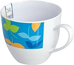 H&h pack 6 mugs jumbo blue decorative melamine breakfast italian design italy