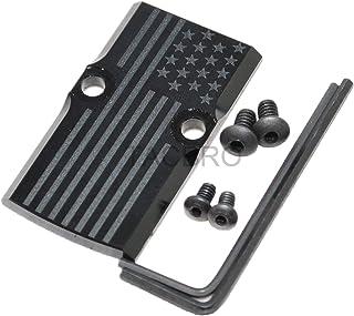 TACBRO Black Anodized Aluminum RMR Cover Plate for Glock 17 19 26 Cut Slides