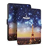 soundmae HZ1 Funda Nuevo E-reader Kindle La octava generación 6'' (NO AJUSTAR Kindle Oasis) Auto-Sueño / Estela Función para Amazon ALl-New Kindle Case Cover 2016 Sin luz versión - Eiffel Tower