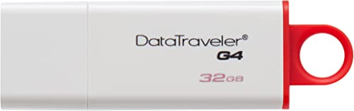 Kingston Digital 32GB Data Traveler 3.0 USB Flash Drive Red (DTIG4/32GB)