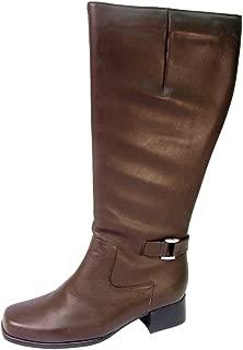 Becca Women Wide Width Fleece Lined 16 Inch Leather Knee High Boots