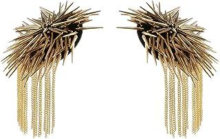 Pair of Shoulder Epaulet Shoulder Rivet Tassel Epaulet Board Link Chain Badge Epaulettes