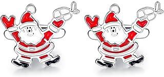 ازرار اكمام سانتا كلوز لفترة الكريسماس من هوني بير للرجال، مصنوعة من الستانلس ستيل، هدايا الكريسماس