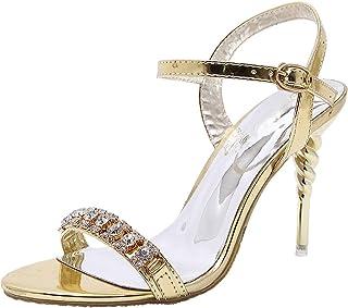 89af707e30 sekesin Women's Open Toe High Heels Stilettos Ankle Strap Sandals for Dress  Wedding Party Evening Shoes