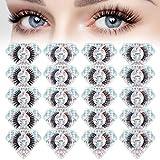 Lashes Natural Look 20 Pairs, 4 Style Faux Mink Eyelashes Pack,Fluffy Volume 3D Wispy False Eyelashes, Dramatic Reusable Mixed Fake Eye Lashes
