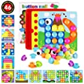 AMOSTING Color Matching Mosaic Pegboard Early Learning Educational Toys for Boys & Girls from AMOSTING