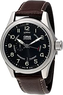 Oris Big Crown Small Seconds Black Dial Rubber Strap Mens Watch 745-7688-4064RS