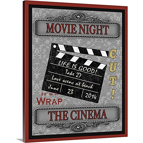 GREATBIGCANVAS Movie Night-Movie Canvas Wall Art Print, 38'x48'x1.5'