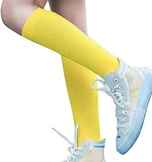 Sylar, Calcetines Mujer Invierno Largos Niñas Deporte Fútbol Soccer Calcetines Mujer Color Sólido Uniforme Media Pierna Pantorrilla Calcetines de Algodón Largos Sudor