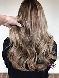 Full Shine Short Thick Hair Extension Clip In Human Hair 14inch Balayage Dye Color #1b Fading To #8 And #22 Blonde Clip Hair Extensions 70g Silky Straight Clip In Double Weft