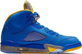 Nike Men's Air Jordan 5 Laney JSP Varsity Royal/Light Charcoal/Varsity Maize CD2720-400 (Size: 8.5)