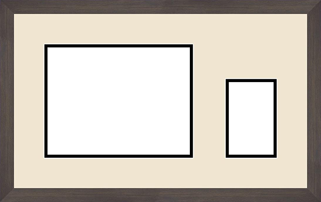 Art to Frames Double-Multimat-196-203/89-FRBW26061 21 by 12.5-Inch Picture Frame, 1.25-Inch Wide, Espresso
