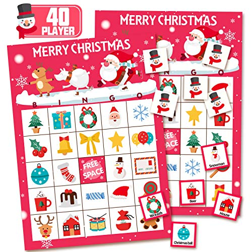 KD KIDPAR 52PCS Games Bingo Cards for Kids Class Party Supplies Activity 40 Players