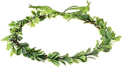 Accesyes Succulent Berry Leaf Headband Festival Halo Wedding Hair Wreath Photography
