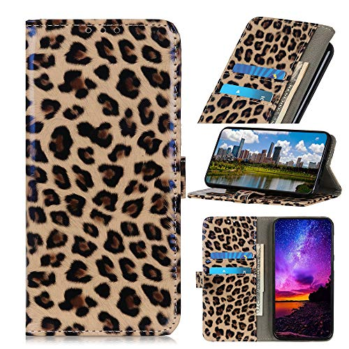 Galaxy A50s Funda,Patrón Pintado Estuche Silicona Case Cuero PU Billetera Cover Carcasa Cierre Magnético Caso Soporte Tapa Cubrir Ranuras Tarjetas Shell para Samsung Galaxy A50s/A30s/A50 (Leopardo)