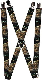 Buckle-Down Suspenders-Tim Burton's Cheshire Cat Face/Eyes & Teeth