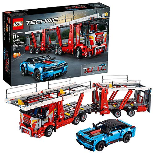 LEGO Technic Car Transporter 42098 Toy Truck and Trailer Building Set