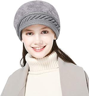 DORRISO Fashion Women Beret Cap Autumn Winter Plain Warm Leisure Vacation Travel Street Style French Beret Rabbit Hair