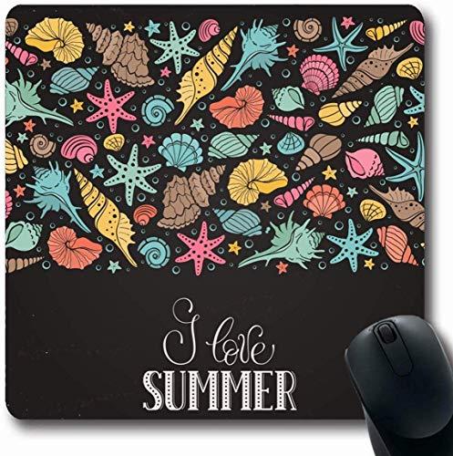 Mousepad Oblong Mariscos Shell Horario verano Dibujado