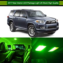 SCITOO LED Interior Lights 12pcs Green Package Kit Accessories Replacement for Toyota 4Runner 2003-2016