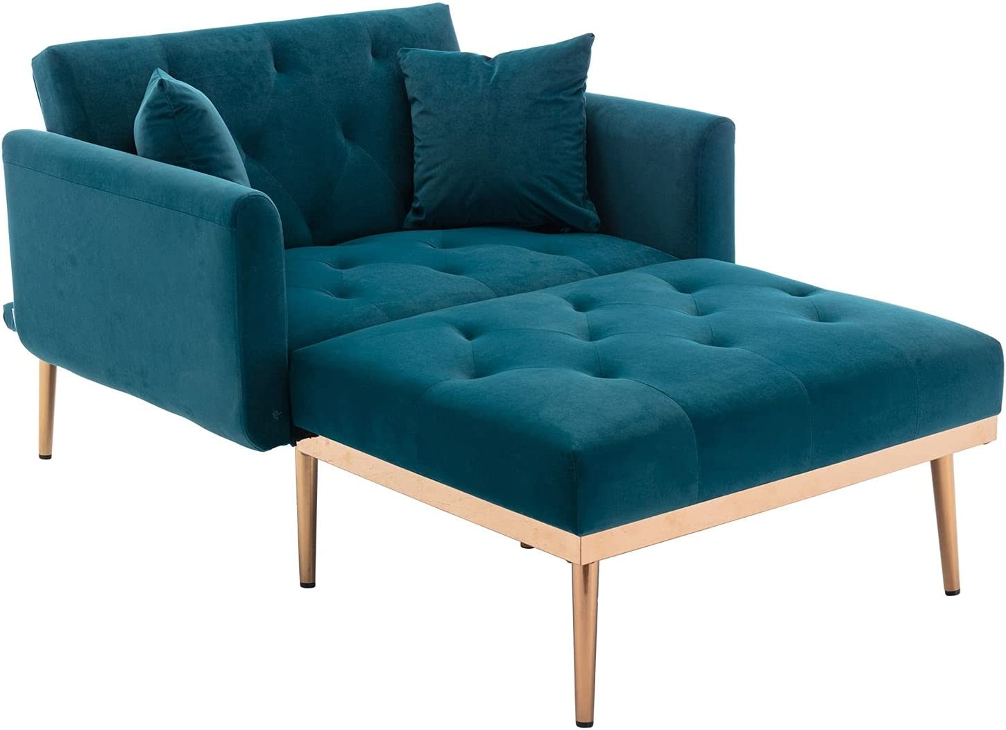 FRITHJILL Velvet Chaise Lounge sale Chair New York Mall Indoor Leisure Sofa Single