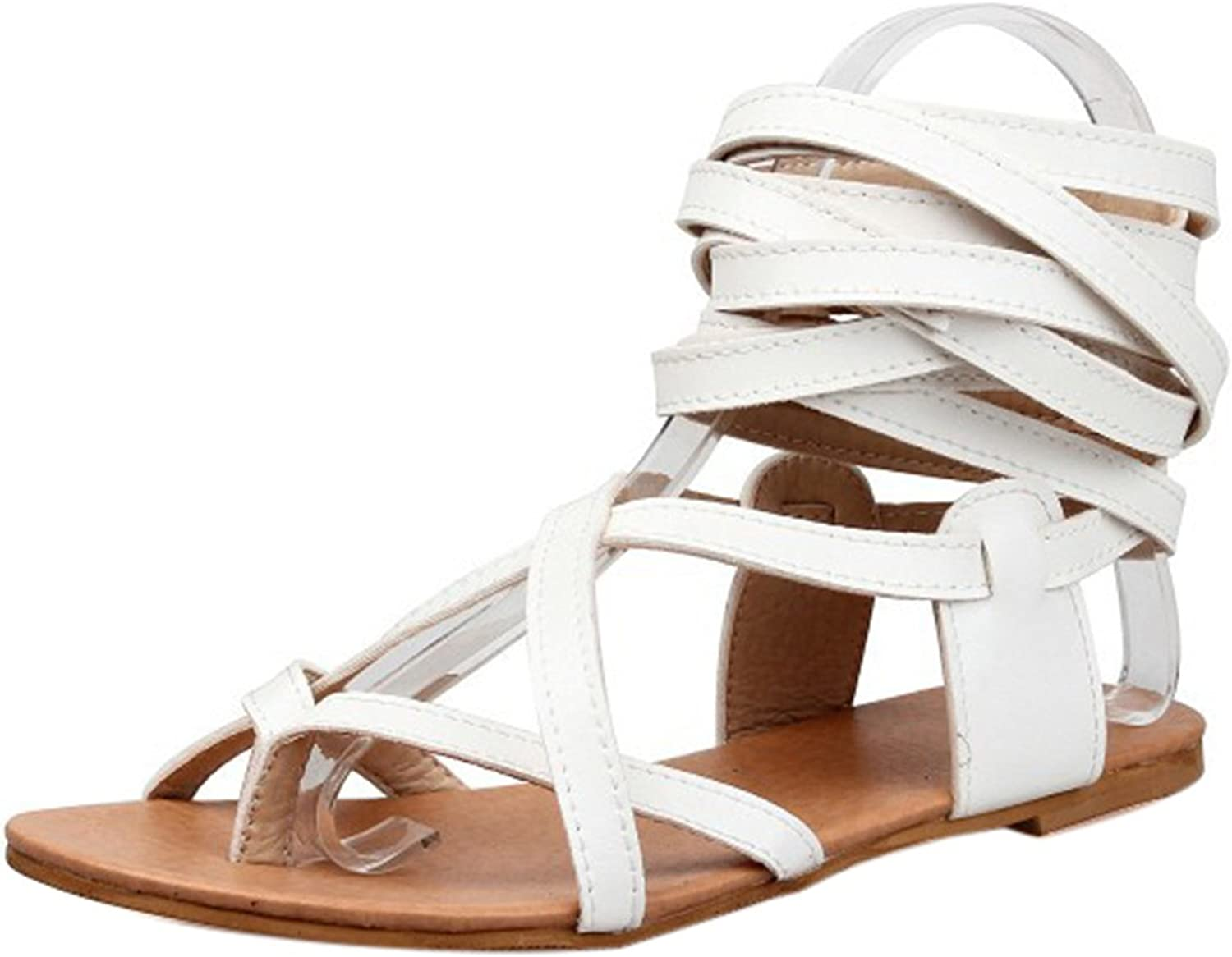 ONCEFIRST Women's Fashion Gladiator Flat Sandal