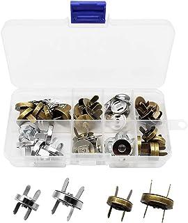 Mila-Amaz 20 Set Bottoni Magnetici Fai Da Te Fermaglio Magnetico per Borsa, Cappotti, Giacche, Giacche a Vento, Jeans, Val...