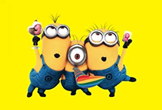7x5ft Cartoon Minions Yellow Backdrop Photography Background Themed Party Photo Booth YouTube Backdrop Photo Booth 79