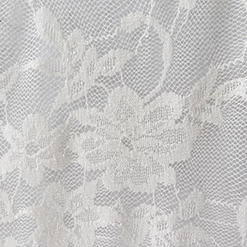 """58"""" Wide White Giselle Stretch Floral Lace Fabric Soft 4 Way Stretch Poly Spandex - Sold by The Yard"""