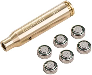 T-Language Bore Sight Cal 223 5.56mm Boresighter Laser Red Dot with Two Sets of Batteries