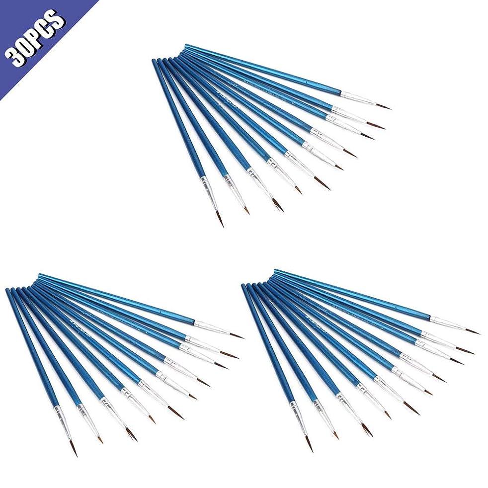Comidox 30PCS Nylon Hair Brush Hook Line Pen Nail Pen Water Chalk Sketch Painting Drawing Large&Medium&Small 10PCS