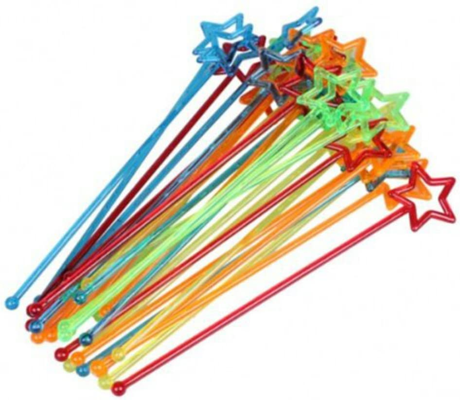 30pcs Mixed-color NEW Plastic Star Design National uniform free shipping Drink Cocktail Stirrers Sw