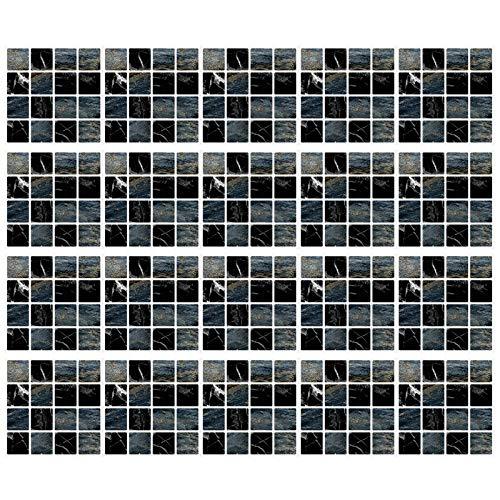 None/Brand Lmbqye Mosaico de Pegatinas De Azulejos, 20 Piezas De Pegatinas De Azulejos De Pared De Mosaico, Película De Azulejos De Baño, Azulejos Autoadhesivos De Cocina(Tamaño: 10 * 10 cm)