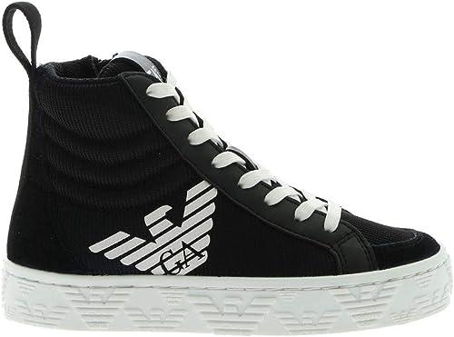 Emporio armani boy sneaker black white 29