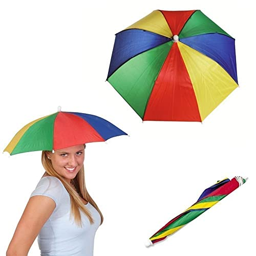 Clothes, Shoes & Accessories ADULT UMBRELLA HAT Novelty Costume Mens Ladies Multi Colour Festival Sun Rain UK