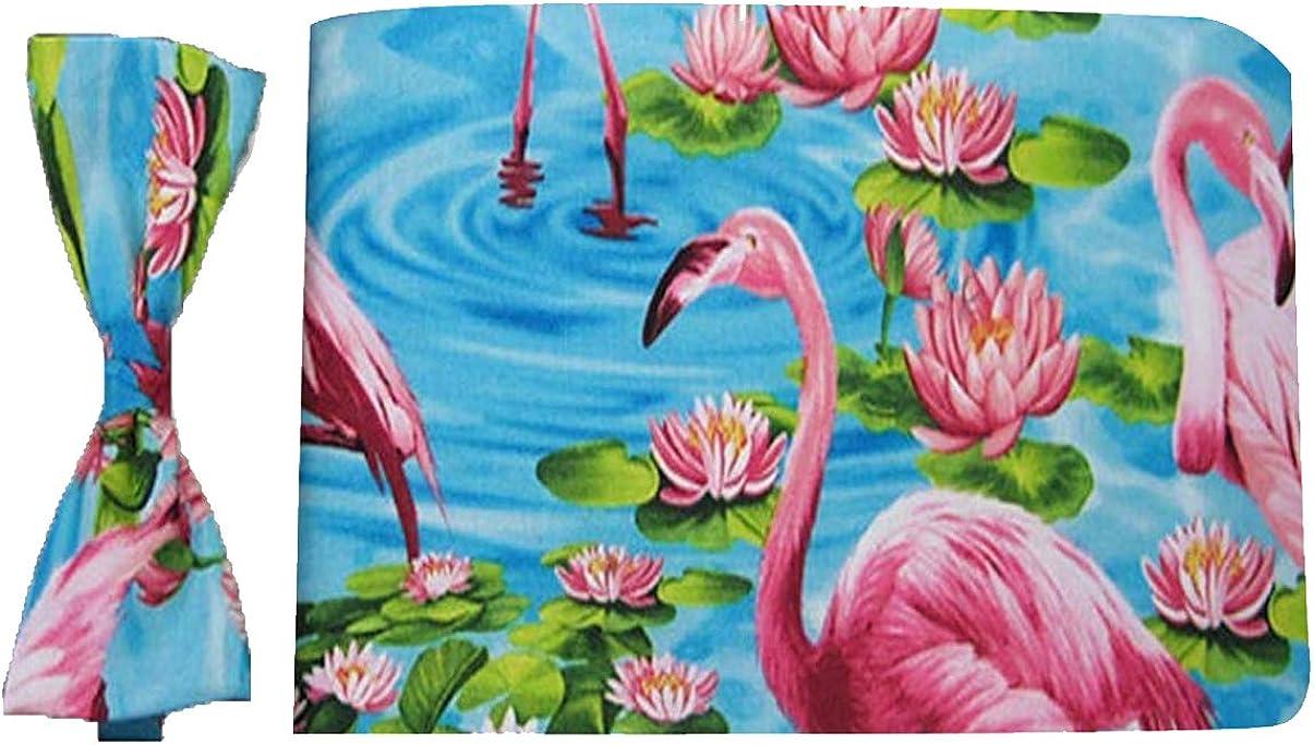Wild Flamingo Bow Tie and Cummerbund Set