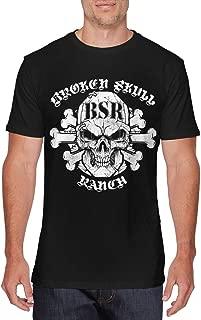 Valanza Mens Cool Broken Skull Ranch T-Shirt Black