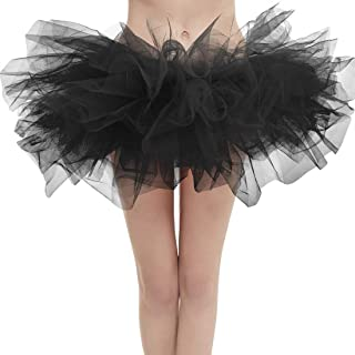 Aysimple Damen Mini Tüll Tutu Puffy Ballett Bubble Rock Ballettrock Tüllrock Tanzkleid für Party Halloween Kostüme Tanzen Cosplay