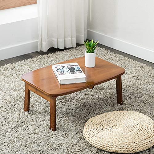RR-YRL 80 * 50Cm Bambus Klappcouchtisch, Faltbar Retro Teetisch, Laptoptisch, Traditionellen Stil Tisch, Tatami Erker Tisch