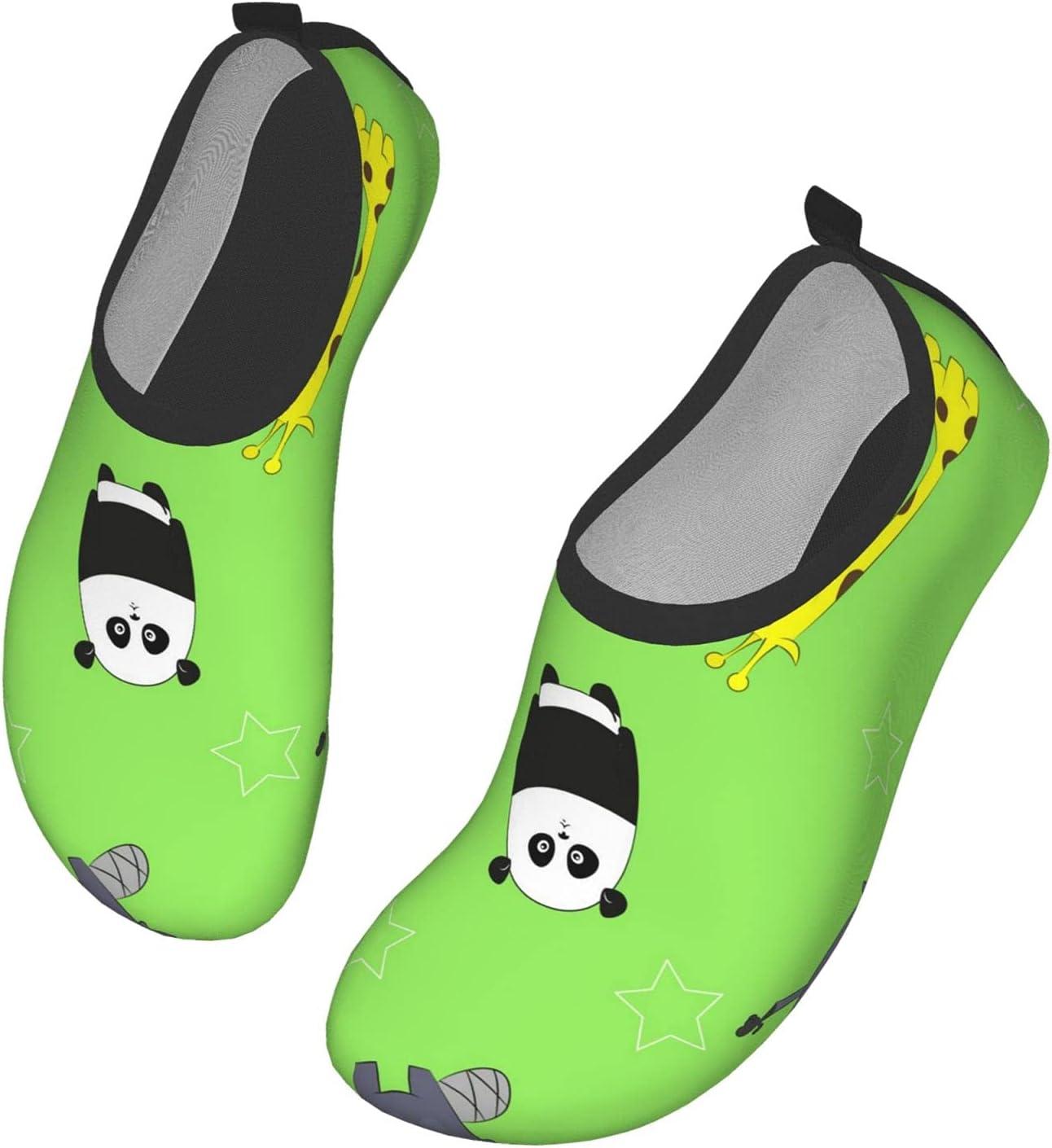 NA Cute Animals Pattern Men's Women's Water Shoes Barefoot Quick Dry Slip-On Aqua Socks for Yoga Beach Sports Swim Surf