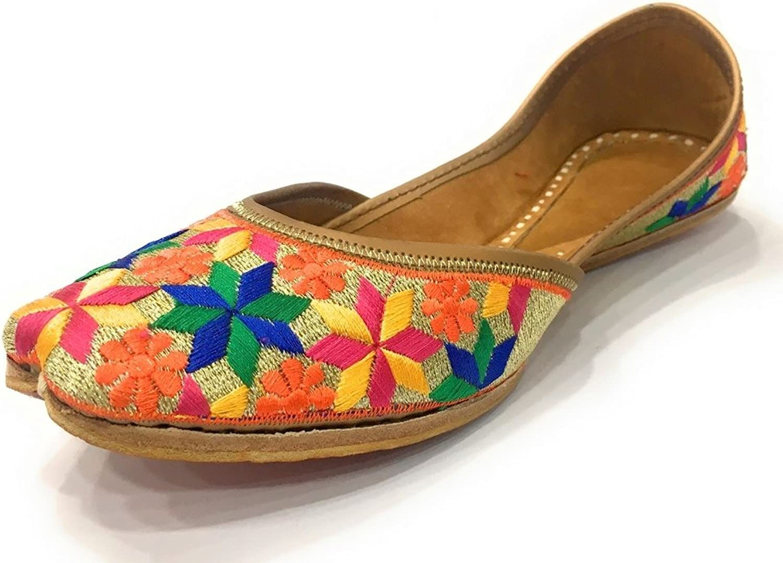 Step n Style Women Flat Phulkari Punjabi Jutti Khussa shoes Ethnic Mojari Jooti