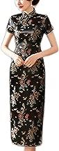 Plus Size S 6XL Chinese Dresses Cheongsam Dragon Phoenix Long Qipao Dress Split Tang Costume Lady