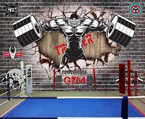 Carta da parati muro di mattoni grigi vintage ispiratore sport club fitness poster palestra yoga sala da ballo studio boxe palestra carta da parati murale-200cmx140cm